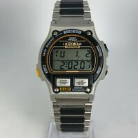 Vintage Timex Mens Ironman Indiglo Triathlon 8 Lap Memory Multifunction Watch
