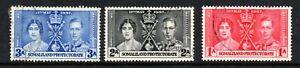 King George V1 (6562) 1937 Somaliland Protectorate  Coronation used  Sg112-14