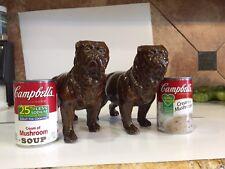 Antique Red Wing Stoneware Bulldog Crock 1895 Pottery Animal Primitive Rare