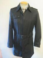 "Genuine Burberry Black Mac Trench Coat Raincoat Size 34-36"" Euro 46-48 R"