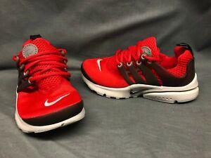 Nike Presto (PS) Athletic Sneakers Mesh Red Black Pre-School Boys Size 1 NEW!