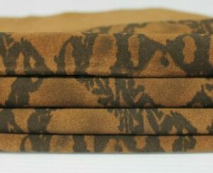 BROWN SNAKE PRINT Italian calfskin calf cow leather skin hide 5sqf 1.0mm #A6452