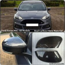 Ford Focus MK3 Real Carbon Fibre Stick On Wing Mirror/Door Mirror Covers (PAIR)