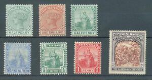 Trinidad 1883-1909 sg.106, 112 no gum, 125, 133, 137, 146-7 MH