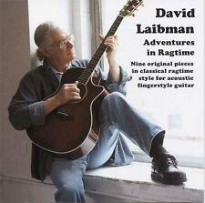 David laibman avventure in Ragtime Acoustic fingerstyle per chitarra musica CD