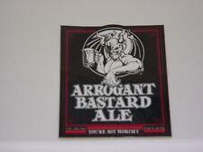 STONE ARROGANT BASTARD ALE Red Bumper STICKER decal craft beer brewing brewery