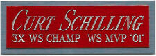 CURT SCHILLING NAMEPLATE AUTOGRAPHED Signed Baseball Display CUBE CASE
