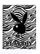 Black Zebra PlayBoy Plush Blanket - PLAYBOY Comforter (Queen Size)
