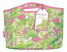 LILLY PULITZER Oversized Insulated Beverage Bucket ELEPHANT EARS  EVA Beach Tote