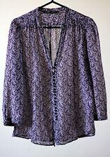 Zara Hip Length Silk Blend Tops & Shirts for Women
