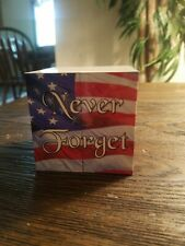 """Patriotic """"Never Forget"""" Rubix Cube. Brand new.  Free Shipping!"""