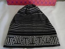 fce7d79f241 AUTH TORY BURCH STRIPED MERINO BEANIE HAT NEW NAVY BLUE   WHITE RETAIL  125