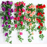 245 cm Roses Ivy Vine with Green Leaves Home Wedding Decoration Hanging Garland