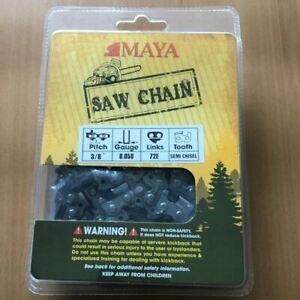 """Chainsaw Chain MAYA 3/8"""" .058 72DL Semi Chisel"""