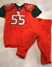 New Nike Miami Hurricanes Football Game Jersey and Pants Size  L