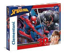 New Clementoni Kids Children Marvel Spiderman 3D Puzzle 104 Pieces