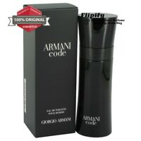 Armani Code Cologne 4.2 oz 2.5 oz 6.7 oz EDT Spray for Men by Giorgio Armani