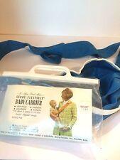 Vintage 1968 Baby Carrier Blue, Gerry Pleatseat, Model p25, Baby Sling