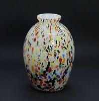 Vase mit bunten Einschmelzungen, wohl Böhmen  (# 13181)