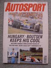 Autosport (16 Aug 1990) Hungarian Grand Prix, T Boutson, Ivan Capelli, Honda NSX