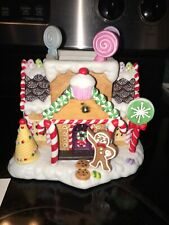 New Partylite Retired Gingerbread Cottage House Village Tealight Candle Holder