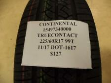 2 CONTINENTAL TRUECONTACT 225 60 17 99T BRAND NEW PAIR OF TIRES 15497340000