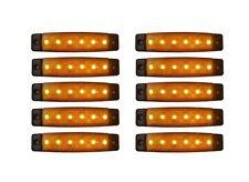 10 x LED 12V E9 BEGRENZUNGSLEUCHTE UMRISSLEUCHTE LKW POSITIONSLEUCHTE ORANGE