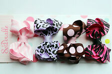 4PCS Girls Kids BABY Shower Adorable Party Princess Bow Bowknot Ribbon Hair Clip