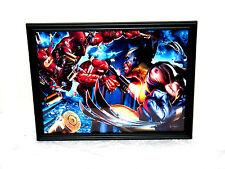 Marvel Deadpool Vs. Wolverine XMen Framed Photo 8.5x11 Wall Poster Mancave Decor
