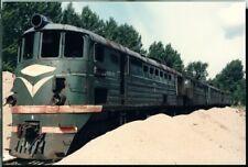 Photo CCCP USSR Soviet Union SZD TE3-3381 Leningrad Russia 1991 original