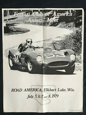 FERRARI CLUB OF AMERICA OFFICIAL ANNUAL EVENT MEET ROAD AMERICA POSTER 1979