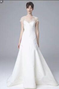New Authentic Amsale Marli wedding dress beaded illusion Size 8 $5000