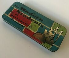 Vintage Modern Students Mathematical Instruments Tin Retro Math Pencil Box