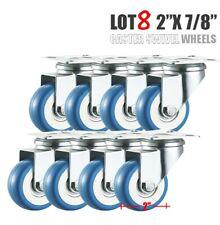 "Heavy Duty Lot 8 2"" Swivel Caster Wheels Rubber Base with Top Plate & Bearing"