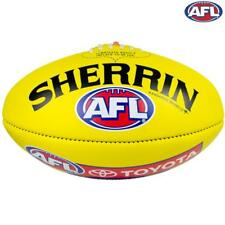 AFL Leather Replica Game Ball - Size 5 - In Yellow From Sherrin