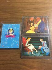 1990's Skybox Walt Disney Cinderella Promo Card Set of 2 PLUS Beauty and Beast !