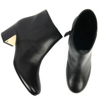 08d92e7c10f1 New TORY BURCH Cleveland 65 Booties Black Grainy Leather Ankle Boots Shoes  9.5
