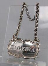 "William IIII 1836 Plata Billete De Botella Decantador Etiqueta ""Madeira"""