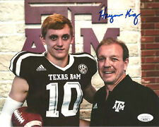 HAYNES KING signed 8x10 Photo Texas A&M Aggies Football JSA Authentication