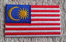 MALAYSIA FLAG PATCH Embroidered Badge Iron or Sew on 4.5cm x 6cm Melayu 马来西亚华人