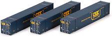 Athearn HO Scale 53' CIMC Intermodal Shipping Container CSX/Boxcar (3-Pack #1)