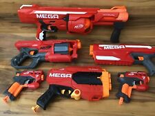 Nerf MEGA Gun Blaster Lot Of 6 Rotofury Cycloneshock Bigshock Magnus Tri-Break