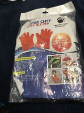 Master Chef Heat Resistant Cooking, Baking, Grilling & BBQ Waterproof Red