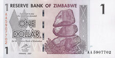 Zimbabwe / Simbabwe 1 Dollar 2007 Pick 65