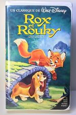 FRENCH Disney BLACK DIAMOND VHS: Rox et Rouky - Fox & the Hound - TESTED