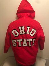 Vtg Ohio State University Buckeyes Band Champion Hooded Jacket Coat Mens Small