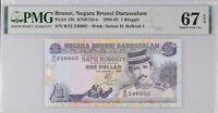 Brunei 1 Ringgit 1994 P 13 b Superb Gem UNC PMG 67 EPQ High