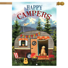 "Great Outdoors Camper Fall House Flag Dog Autumn 28"" x 40"" Briarwood Lane"