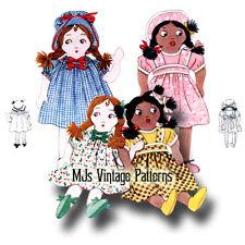 "Rare! Vintage Ethnic Girl Dolls Pattern ~ 13"" tall"