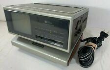 "4"" Panasonic Folding Portable CRT TV Alarm Clock Radio (Working) TR-4060P Japan"